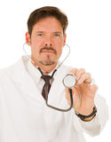 Doctor with Stethoscope Stock Image