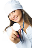 Doctor with a stethoscope Stock Photography