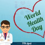 World Health Day, 7 April. vector illustration