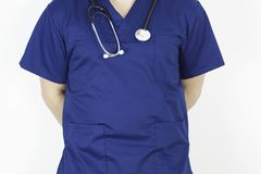 Doctor with stethoscope depicting medical field. Image Stock Photos
