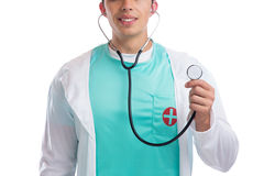 Doctor with stethoscope heart medical isolated Stock Photo