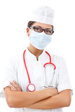 Doctor with stethoscope and mask Royalty Free Stock Images