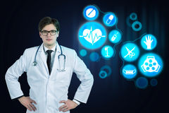 Doctor with a stethoscope Stock Photo