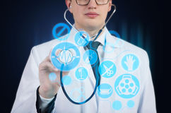 Doctor with a stethoscope Stock Images