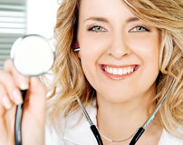 Doctor stethoscope positive Royalty Free Stock Photo
