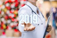 The concept is the future development of medical service royalty free stock photos