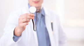 Doctor with stetoscope Stock Photo