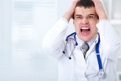 Doctor in stress Royalty Free Stock Image