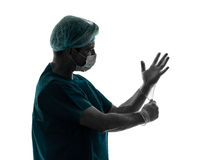 Doctor surgeon man holding shotgun Stock Photography