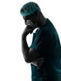 Doctor surgeon man portrait with face mask Royalty Free Stock Photos