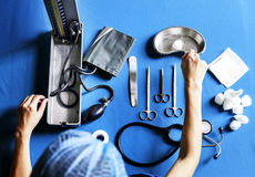Doctor Surgeon Operational Tools Used in Hospitals Stock Photo
