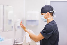 Doctor Surgeon washing hands Royalty Free Stock Photo