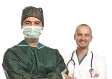 Doctor and surgery portrait Royalty Free Stock Photo