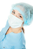 Doctor with surgical mask Royalty Free Stock Photo