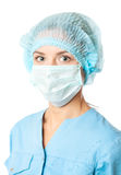 Doctor with surgical mask Stock Photography