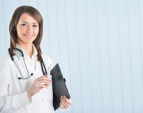 Doctor with syringe Royalty Free Stock Images