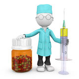 Doctor with a syringe Royalty Free Stock Photography