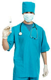 Doctor with a syringe Stock Image