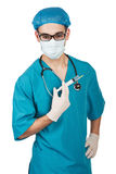 Doctor with a syringe Royalty Free Stock Image