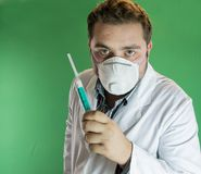 Doctor with syringe Stock Photo