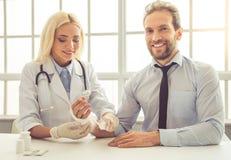 doctor tålmodign Fotografering för Bildbyråer
