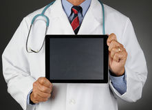 Doctor Tablet Chalkboard Screen Stock Photography