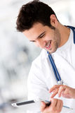 Doctor with a tablet computer Royalty Free Stock Image