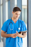 Doctor tablet computer Royalty Free Stock Image