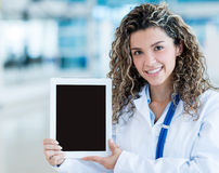 Doctor with tablet computer Stock Image