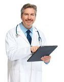 Doctor with tablet computer. Royalty Free Stock Photos