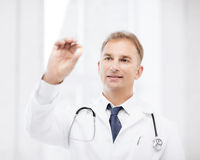 Doctor with tablet in hospital Stock Photo