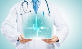 Doctor with tablet pc Royalty Free Stock Photos