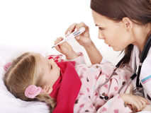 Doctor take  child temperature Stock Photography