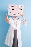 Doctor take look somewhere billboard Royalty Free Stock Photo