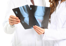 Doctor take x-ray Stock Image