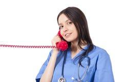 Doctor talking Stock Photo