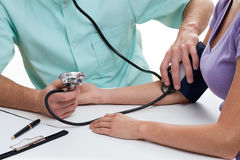 Blood pressure measure Royalty Free Stock Image