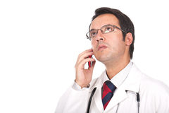 Doctor talking on the phone Royalty Free Stock Photo