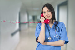 Doctor talking. On the phone Stock Images