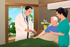 Doctor Talking to His Patient Stock Images