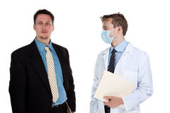 Doctor talking to a patient Stock Image
