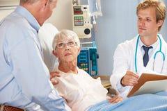 Doctor Talking To Senior Couple On Ward Royalty Free Stock Image