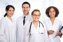 Doctor and team Royalty Free Stock Images