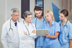 Doctor team with digital tablet Stock Photo