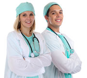 Doctor team young doctors portrait smiling occupation job isolat Royalty Free Stock Photo