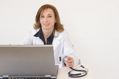 Doctor and technology Stock Photos