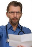 Doctor tells result of inspection Stock Photography