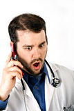 Doctor Terrified Expression Stock Images
