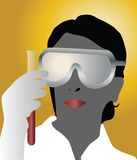 Doctor and test tube Royalty Free Stock Images