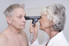 Doctor Testing Patients Eyesight Royalty Free Stock Photo